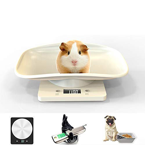 Digital Pet Scale,Plastic Electronic Digital Baby Pet Scale,Digital Pet Scale for Small Dogs and Cats Pet Body Weighing Tools 2019 New HD LCD Display Measure Tool