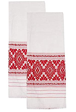 Gamusha, Assamese gamusha 100% Cotton (Set of 2)