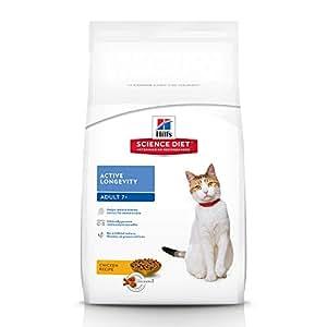 Hill's Science Diet Senior Cat Food, Adult 7+ Active Longevity Chicken Recipe Dry Cat Food, 1.5kg Bag