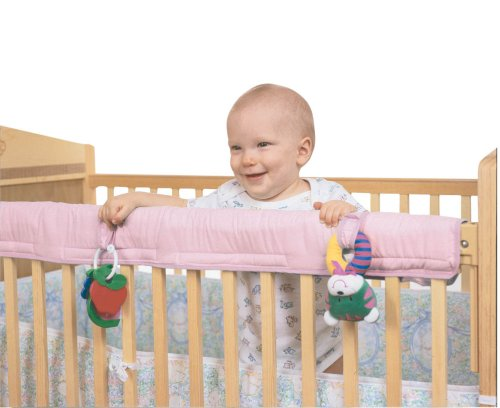 Easy Teether Crib Rail Cover - Pink Leachco 13520 pink