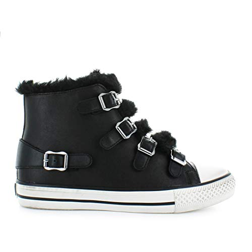 f20498e7494d Avec Femme Fourrure Noir hiver Chaussures Automne Baskets Faux Ash 2019  Valko TpXUqB