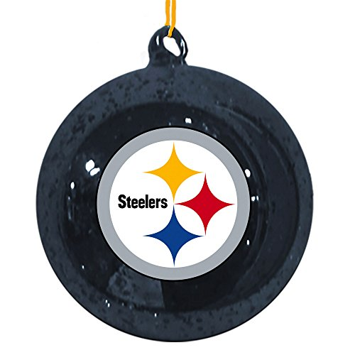 Team Sports America Pittsburgh Steelers Mercury Glass Ball Ornament