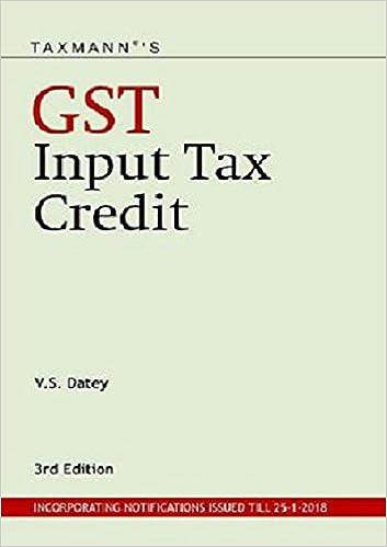Taxmann's GST Input Tax Credit