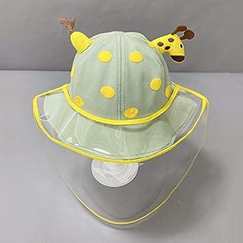 wtnhz Sombrero-Sombrero de Pescador Anti-gotitas para niños, Sombrero Amarillo para bebés, Alumnos de jardín de Infantes, Cubierta Protectora para el Sombrero de la CU