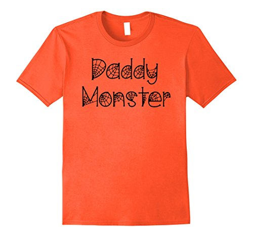 Costumes For Moms And Dads (Mens Mom and Dad Halloween Shirts: Daddy Monster T-Shirt for Dads Large Orange)