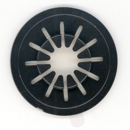 StoreSMART - CD/DVD Spider Spindle Hubs - Black Plastic - 100-Pack - CDH1TS-BK-100