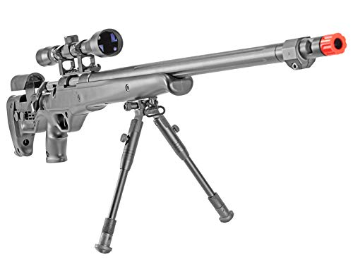 BBTac Well MB04 G-22 AWM Airsoft Sniper Rifle with 3-9 x 40 Scope and Bi-Pod Review