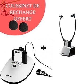 TV auricular inalámbrico con entrada óptica cl7350 opticlip + casco Ad cl7350 incluye coussinet: Amazon.es: Electrónica