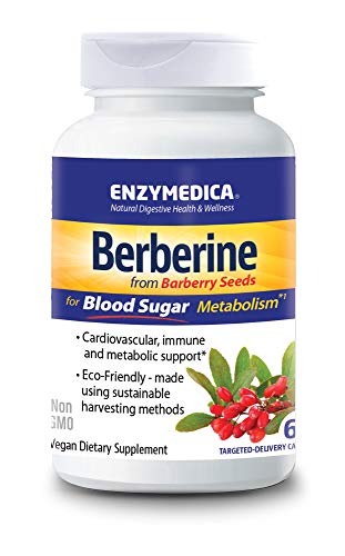 Enzymedica, Berberine, Cardiovascular and Blood Sugar Support