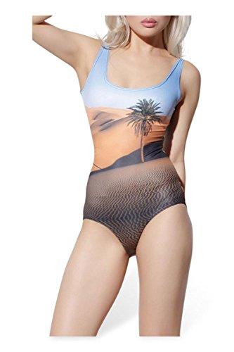 HZZ de las mujeres de una pieza que adelgaza el traje de baño con la impresión 3D digital Scoop traje de baño , as figure , Free as figure