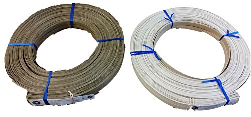 1 Pound Coil of Flat Reed, Natural or Smoked Color, Any Width, 1/4'' 3/8'' 1/2'' 5/8'' 3/4'' (1/4'' Wide, Natural)