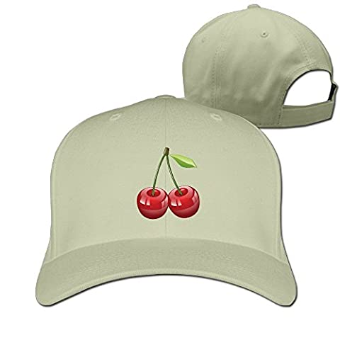 Yesher Fashion Cherry Baseball Cap - Adjustable Hat - Natural (Zotz Bombs Candy)
