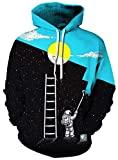 AviviRuth Unisex Harajuku Realistic Galaxy 3D Print Pullover Hoodies Sweatshirts