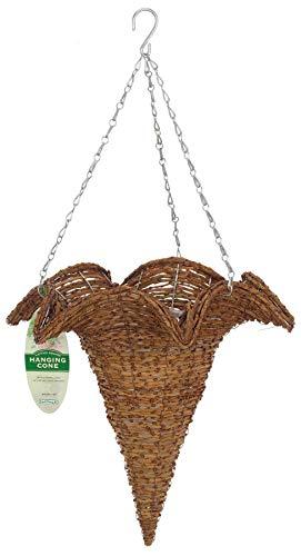 Gardman R290 Rustic Rattan Hanging Star Cone Basket, 12