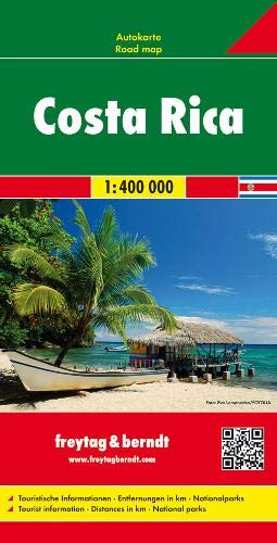 Costa Rica Road Map FB 1:400K (English, Spanish, French, Italian and German Edition)