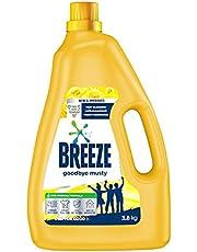 Breeze Liquid Detergent, Goodbye Musty, 3.8kg