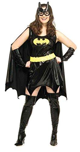 UHC Women's Batgirl Costume Dc Comics Sassy Halloween Theme Party Fancy Dress, Plus (16-20)