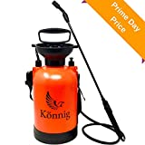 Könnig 1.3 Gallon Lawn, Yard and Garden Weed Pressure Sprayer for Chemicals, Fertilizer