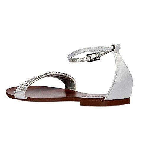 APART Damen-Schuhe Sandalette mit Strass Grau