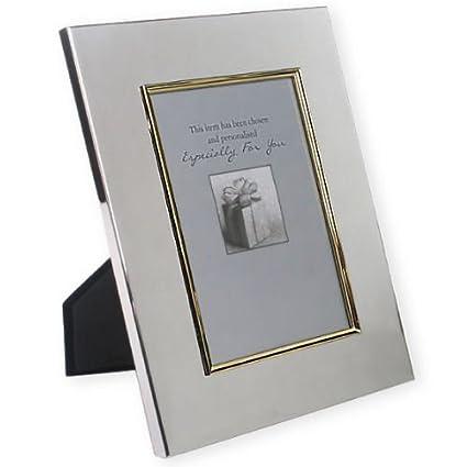 Personalizado Marco de fotos de 8 x 10 borde dorado plata grabado ...