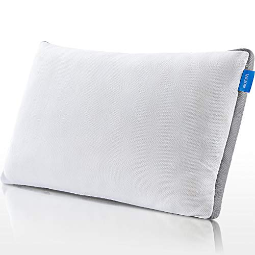 NOFFA Memory Foam Pillow Neck Support Pain Relief with Washable Pillow Case Bed Pillow, Queen Size