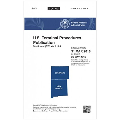 Faa Ifr Terminal Procedures Bound Southwest  Sw 1  Vol 1 Of 4  Always Current Edition