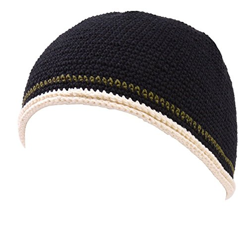 Casualbox CHARM Mens Womens Skull Cap Beanie Hand Knitted Elastic Tight Japanese (Hand Knitted Hat)