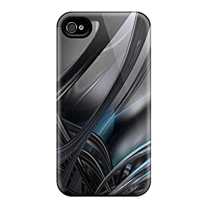 Shock Absorbent Hard Phone Covers For Apple Iphone 4/4s (dGc20373YCTc) Customized High Resolution Abstract 3d 02 Pattern