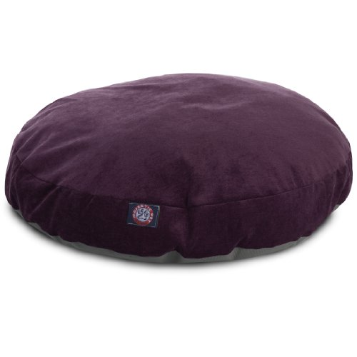 Aubergine Villa Collection Large Round Pet Dog Bed Round Pet Pillow