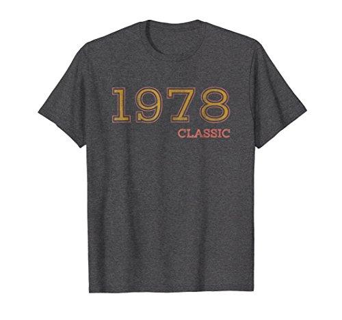 Mens 40th Birthday Shirt, Classic 1978 T-Shirt, Gift