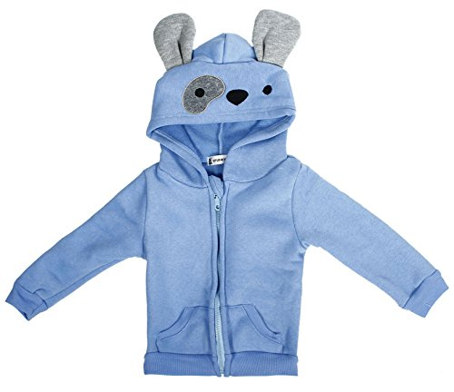 Simplicity Boy's Sports Coat in Fleece, Cute Dog Design, Hoodie, ()
