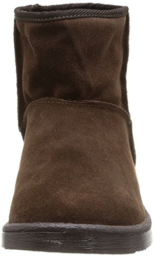PIECES Ps Ume Suede Boot Blk Coffee - Botas Mujer Marron (Black Coffee)