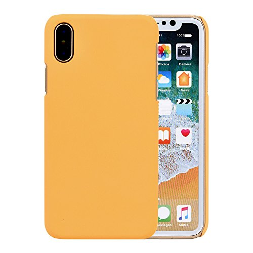 Price comparison product image Phone Case Cover For Iphone X ,Matoen Ultra-thin Luxury Hard PC Back Case Cover (For Iphone X, Yellow)