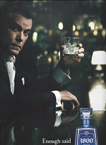 **PRINT AD** With Ray Liotta For Cuervo 1800 Silver Tequila **PRINT AD**