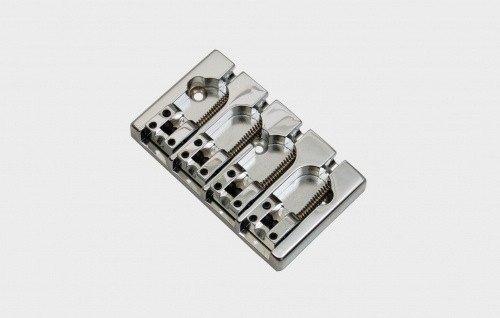 Aluminum Bridge (Hipshot A Style 4-String Bridge Fender Mount Chromed Aluminum)
