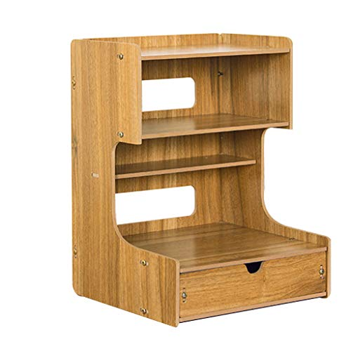 Amazon.com: Carl Artbay Office Wooden Desktop Shelf, Desk ...