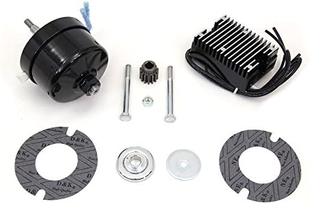 XL Black 12 Volt Alternator Generator Conversion Kit
