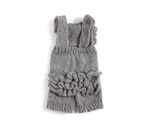 (Nodykka Newborn Baby Photography Mohair Overalls Props Boy Girl Photo Shoot Clothes (Gray Floral) )