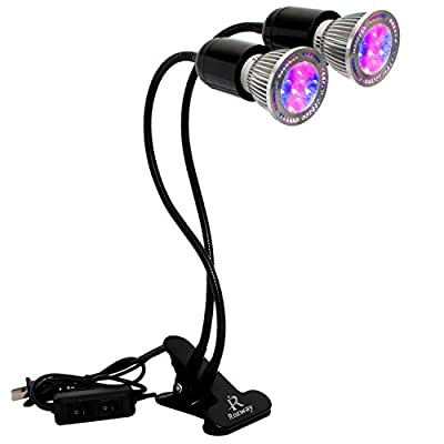 LED Grow Lights | DETACHABLE BULBS | HIGH YIELDS | Premium Dual Head W/ Flexible Goose Neck 10W Grow Lamp For Indoor Plants Plant Growing, Hydroponic Garden, Greenhouse, Gardening [2018 UPGRADED]