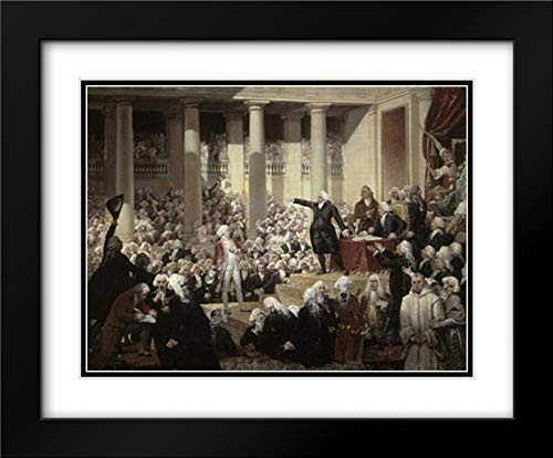 (Mirabeau Devant Dreux-Brezemirabeau in Front of Dreux-Breze 37x28 Black Modern Frame and Double Matted Art Print by Court, Joseph Desire)