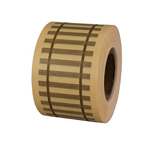 Photo ChromaLabel 1-1/2 inch Railroad Track Tape | Tan with Brown Rail Imprint | 400 inch Roll