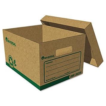 Universal de un registro reciclado caja de almacenaje, carta/Legal, 12 pulgadas x