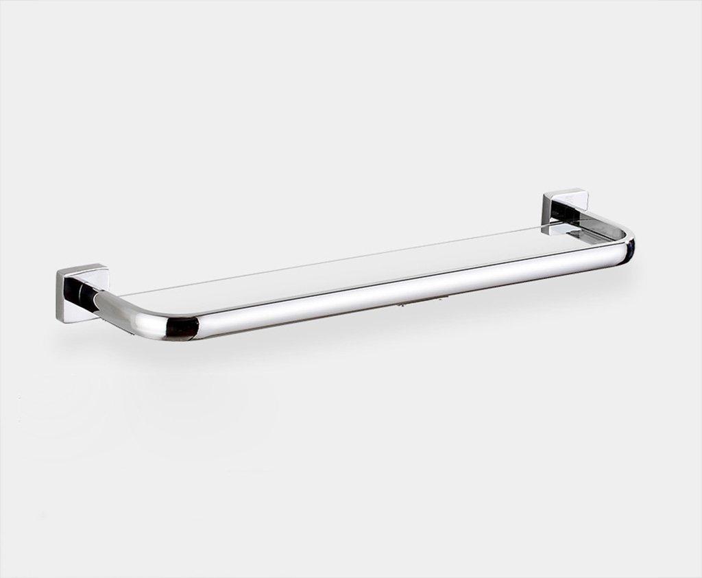 タオル掛け ガラスシェルフタオルラックバスルームシェルフウォールマウントミラー洗面台 タオルスタンド (サイズ さいず : 53センチメートル) B07DWT9RD1 53センチメートル 53センチメートル