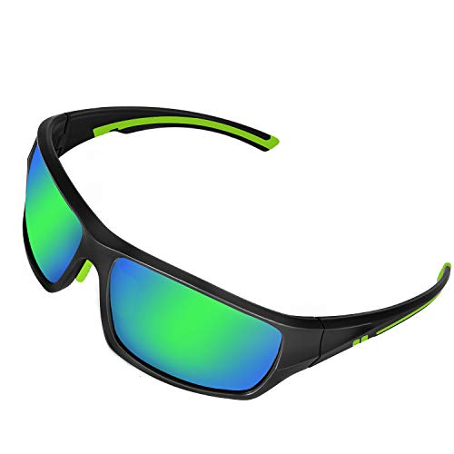 DUIDY Polarized Sports Sunglasses 100% UV Protection Sport Glasses for Men Women Cycling Fishing Driving Running Motorcycle Softball Tennis Golf Outdoor ()