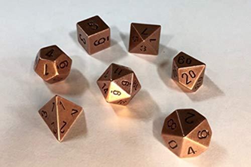 27204 CHX 27024 7-Die Set Metal Copper Color Chessex