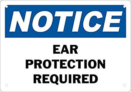 Señal de Seguridad para la protección de los oídos con señal ...