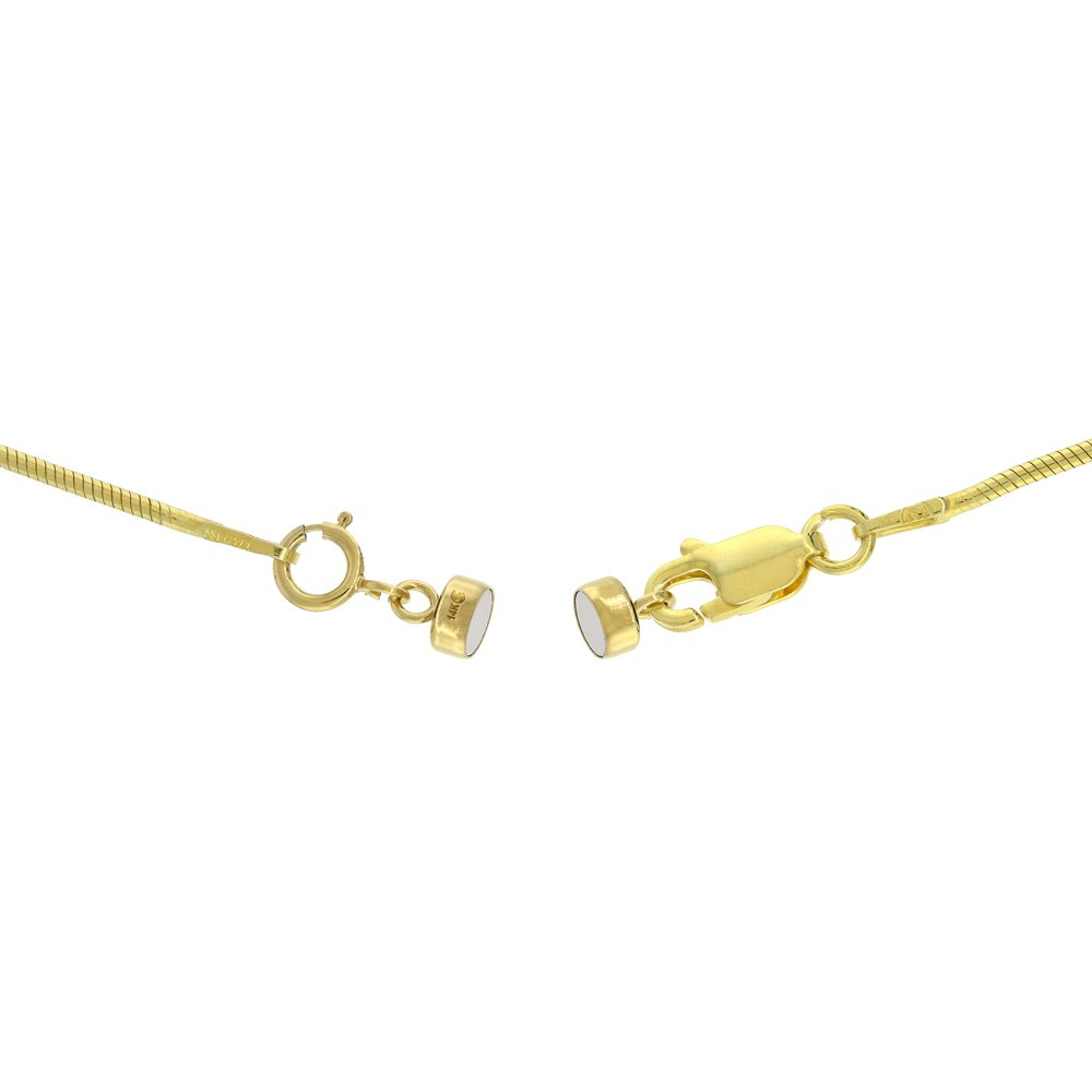 3 PACK 14k Gold 4 mm Magnetic Clasp Converter for Light Necklaces USA, Square Edge by Sabrina Silver (Image #4)
