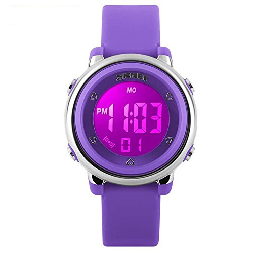 Better line Digital Kids Watch Band with Hourly Chime, Stopwatch, Daily Alarm & Calendar, Water Resistant 30M (Purple) by BETTERLINE
