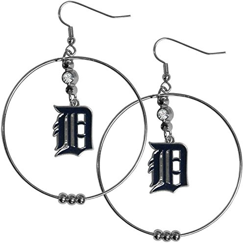 MLB Detroit Tigers Hoop Earrings, 2-Inch -
