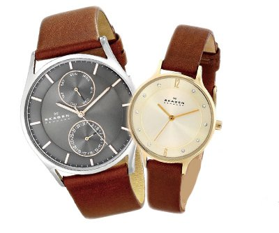 detailed look a57f7 9fdad Amazon | スカーゲン ペアウォッチ メンズ レディース 腕時計 ...